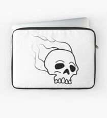 Skull Fire Laptop Sleeve