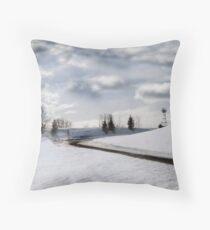 Spring Clouds Throw Pillow