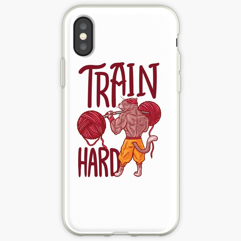 Train Hard Gym Fitness Workout Bodybuilding iPhone-Hüllen & Cover