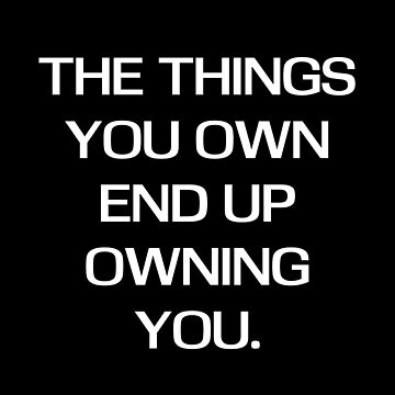 Things you own von tw07