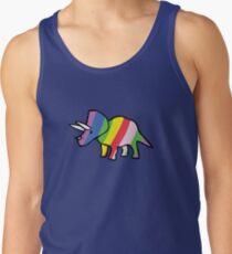Rainbow Triceratops Tank Top