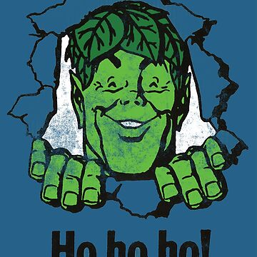 Ho Ho Ho! Jolly Green Giant Wall Burst (Distressed) by PissAndVinegar
