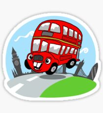 Funny London bus Sticker