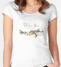 Camiseta entallada de cuello ancho Sea run trout