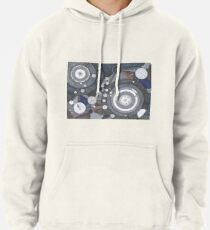 Singularity Fugue, ink and mixed media on paper Pullover Hoodie