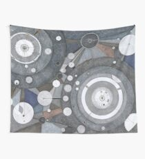 Singularity Fugue, ink and mixed media on paper Wall Tapestry