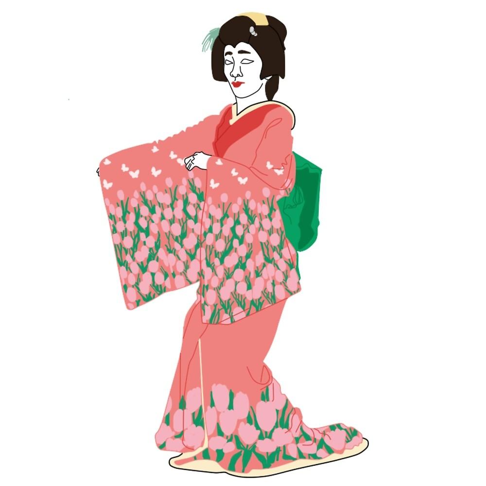 Tulips Kimono Motif by KHRArts