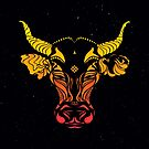 Angry cattle in the wind by #Bizzartino by Bizzartino
