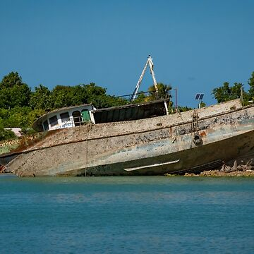 Beached Boats, Antigua by gerdagrice