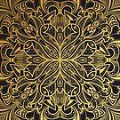 Golden Mandala by printmesomecolo