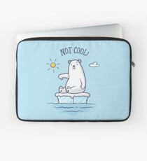 Polar Bear - Global Warming is not Cool! Laptop Sleeve