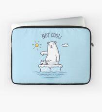 Polar Bear - Global Warming is not Cool! Laptop Sleeve