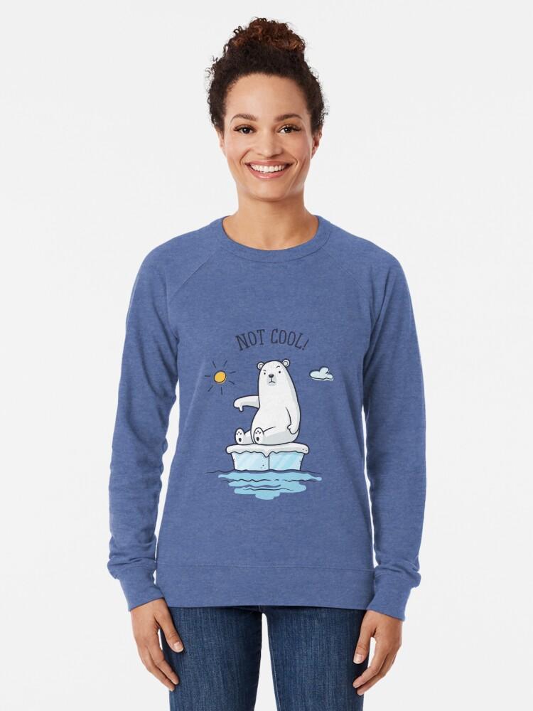 Sweatshirt léger ''Polar Bear - Le réchauffement climatique n'est pas cool!': autre vue