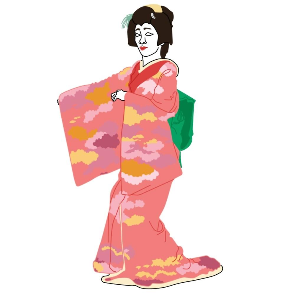 Flowing Clouds Kimono Motif by KHRArts