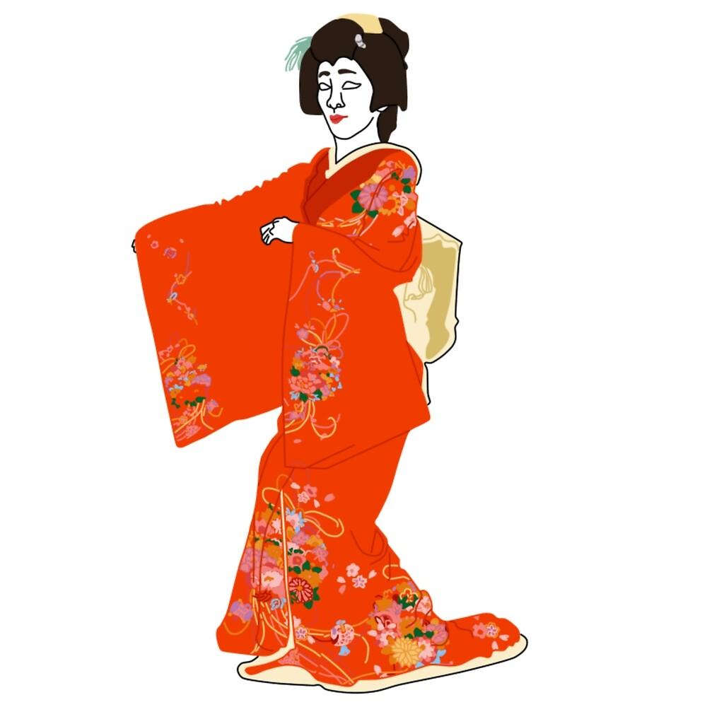 Tree Peony Kimono Motif by KHRArts