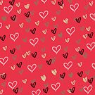 Abstract heart background by LoraSi