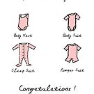 New Baby Boy or Girl (Pink Version) Congratulations New Parents by shufti