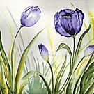 Purple Spring Tulips by EverIris