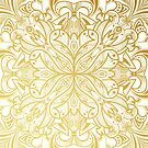 Gold in Mandala by printmesomecolo