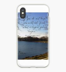 Inspirational Beyond your hopes quote calligraphy art  iPhone-Hülle & Cover