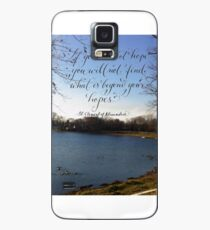 Inspirational Beyond your hopes quote calligraphy art  Hülle & Skin für Samsung Galaxy