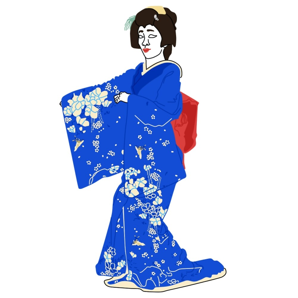 Flowers and Birds Kimono Motif by KHRArts