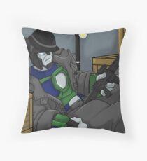 Kittycon Wrecker Onslaught Throw Pillow