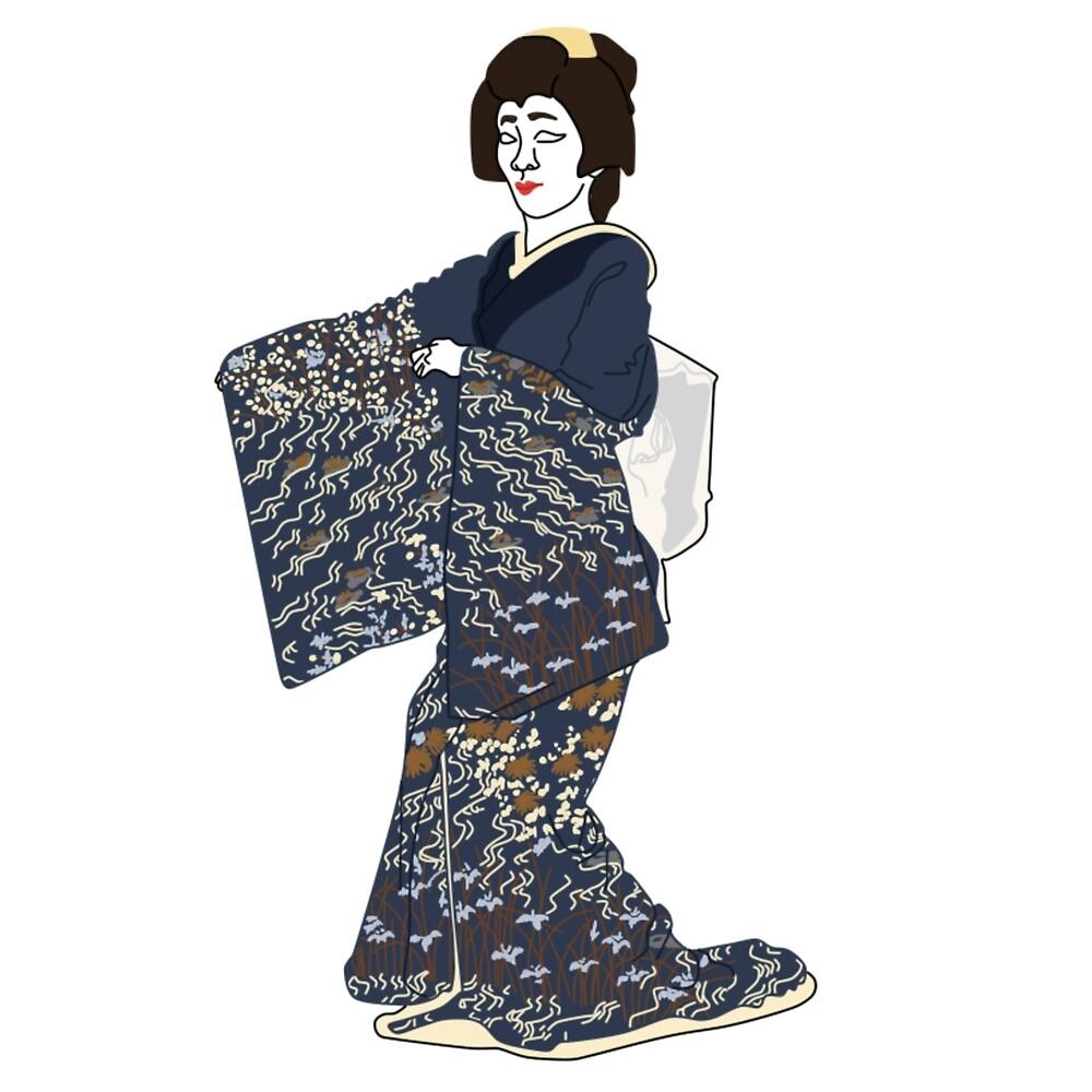 Streams Kimono Motif by KHRArts