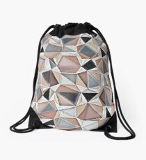 Geo Morphics Drawstring Bag