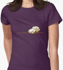 VW Vintage Beetle Womens Fitted T-Shirt
