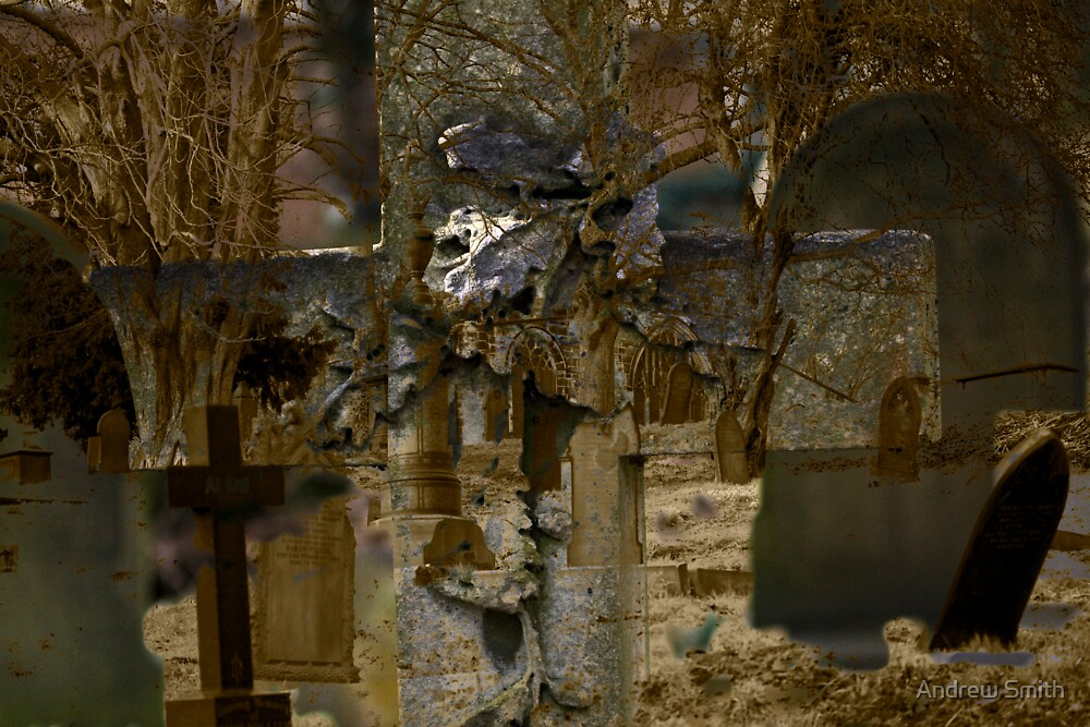 Cross and Church Yard Montage by Andy Smith