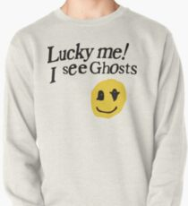 Lucky me I see Ghosts smiley Pullover