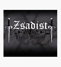 Zsadist - [ the Black Dagger Brotherhood ] Photographic Print