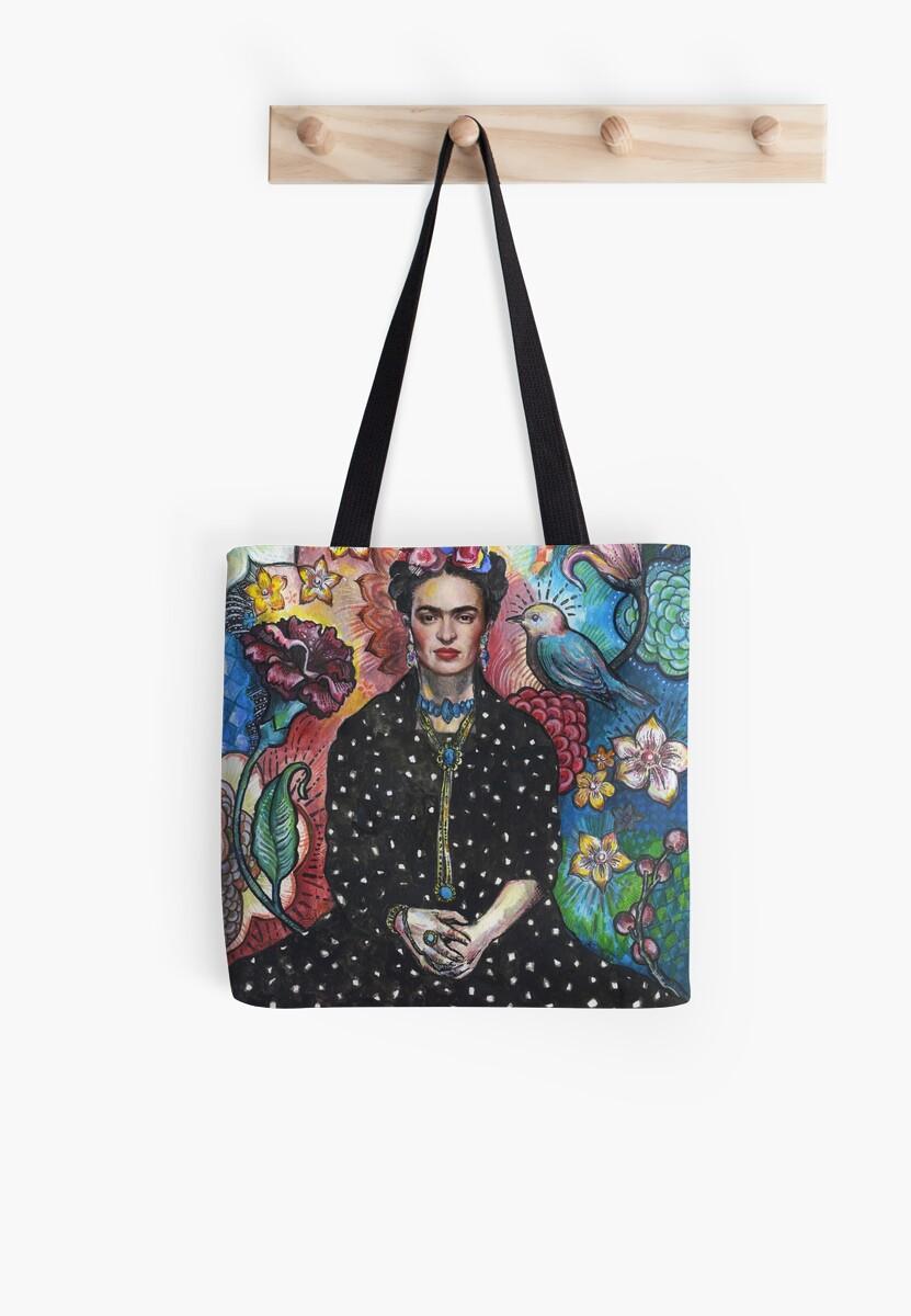 Frida Khalo portrait (5) Tote Bag