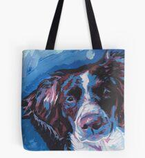Brittany Spaniel Art de pop art coloré brillant Tote bag
