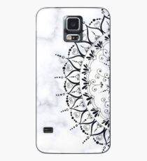 Grey Marble Floral Mandala Pattern Case/Skin for Samsung Galaxy