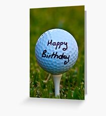Golf greeting cards redbubble happy birthday golf nut greeting card m4hsunfo