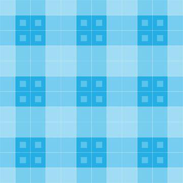 Geometric Pattern: Button Weave: Light/Blue by redwolfoz
