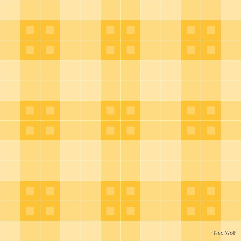 Geometric Pattern: Button Weave: Light/Yellow by * Red Wolf
