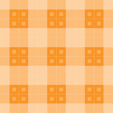Geometric Pattern: Button Weave: Light/Orange by redwolfoz