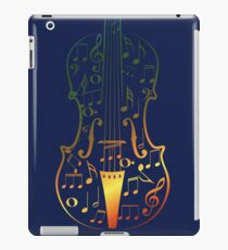 Colorful Violin with Notes iPad Case/Skin