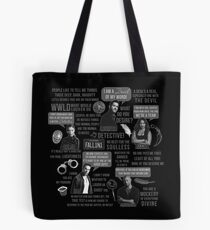 Lucifer Character Quotes Tote Bag