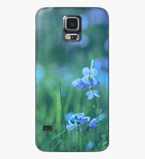 Blue Spring Flowers Case/Skin for Samsung Galaxy