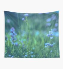Blue Spring Flowers Wall Tapestry