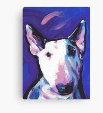 Bull Terrier Dog Bright colorful pop dog art Canvas Print