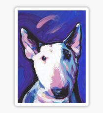 Bull Terrier Dog Bright colorful pop dog art Sticker