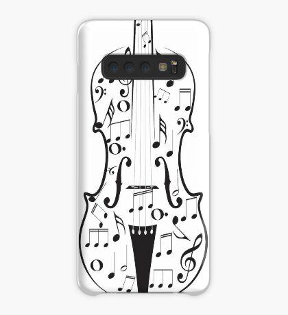 Violine mit Noten Hülle & Klebefolie für Samsung Galaxy