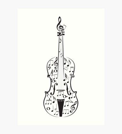 Violine mit Noten Kunstdruck