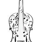 Violine mit Noten von AnnArtshock