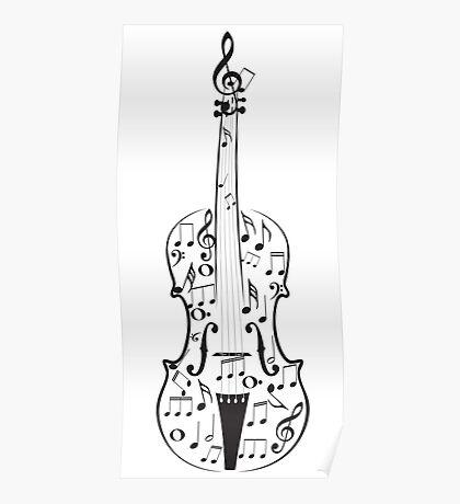 Violine mit Noten Poster